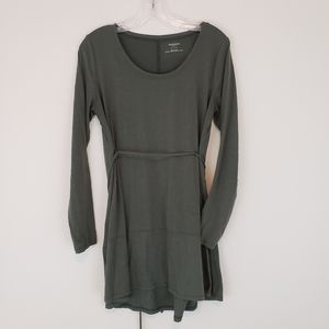Maternity Tunic Long Sleeve Olive Green